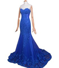 kivary sweetheart lace and tulle mermaid long corset formal prom evening dresses