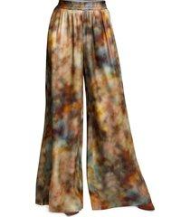 l'agence lillian tie dye wide leg pants, size medium in multi tie dye cloud print at nordstrom