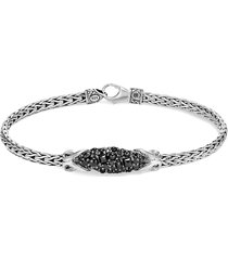 'asli classic chain' spinel sapphire silver chain bracelet