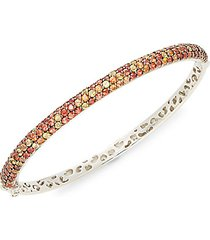 black rhodium-plated sterling silver & multicolored sapphire bangle bracelet