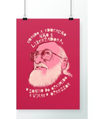 poster paulo freire