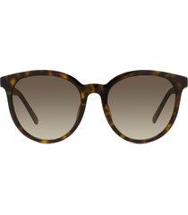 dior 30montaigne mini 51mm gradient round sunglasses in dark havana/brown at nordstrom