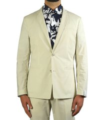 paolo pecora beige single-breasted suit jacket