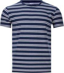 camiseta a rayas delgadas color azul, talla s
