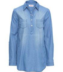 tunica in jeans a manica lunga (blu) - john baner jeanswear