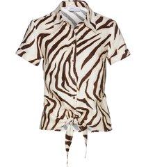 camicetta zebrata in lino (marrone) - bpc selection premium