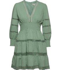 inez dress kort klänning grön by malina