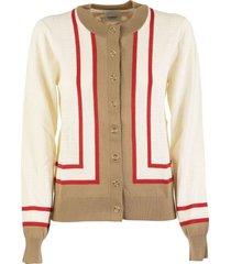 burberry hope archive society intarsia wool cardigan