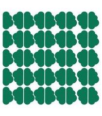 adesivo de parede nuvens verde escuro 45un