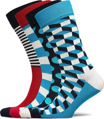 4 pk filled optic gift box underwear socks regular socks multi/mönstrad happy socks