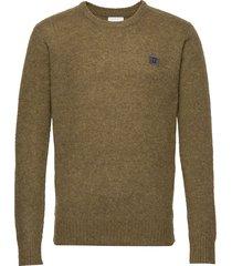 piece brushed knit gebreide trui met ronde kraag groen les deux