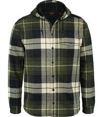 wolverine men's bucksaw bonded shirt jac forest plaid, size xl