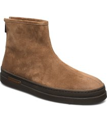 creek mid zip boot shoes boots winter boots brun gant