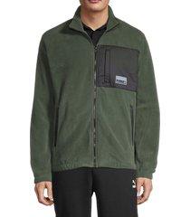 puma men's avenir hybrid track jacket - green - size xl