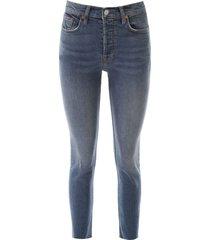 re/done raw cut slim jeans