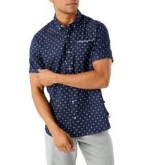 7 diamonds pictures of you short sleeve button-down chambray shirt, size xx-large in navy at nordstrom