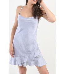 vestido dream satin gris night concept