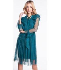 zielona sukienka tiulowa