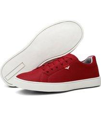 sapatênis masculino casual urban colorido conforto - vermelho