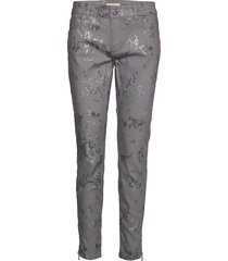 sumner silver pant pantalon met rechte pijpen grijs mos mosh