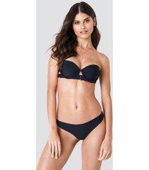 j&k swim x na-kd plain bikini briefs - black