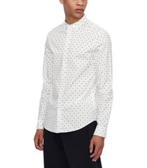 ax armani exchange men's ditsy wave poplin shirt