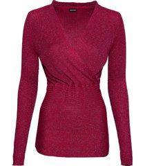 ribbstickad tröja med lurex
