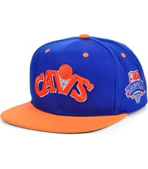mitchell & ness cleveland cavaliers hardwood classic lotto pick snapback cap