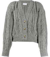 magda butrym slouchy cable knit cardigan - grey