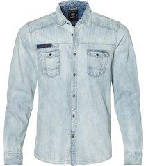 lerros overhemd - modern fit- blauw
