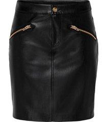 kjol onlheide faux leather skirt