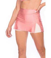 shorts saia bonna forma fitness rosé