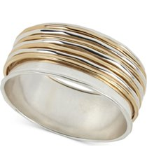 robert lee morris soho two-tone sculptural wire bangle bracelet