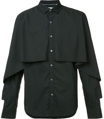 private stock layered cape-style shirt - black