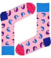 men's chameleon novelty crew socks