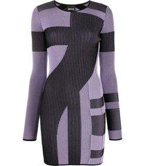 just cavalli colour-block jumper dress - black
