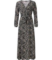dayz ariane maxi overslag jurk met strik ceintuur grijs