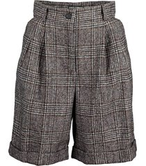 tartan check pleated front shorts