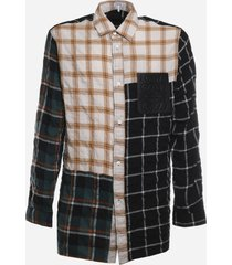 loewe cotton blend shirt with check print