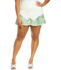 plus size women's never fully dressed coco high waist shorts, size 14 us - green