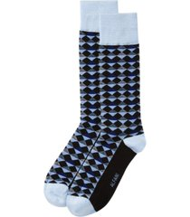 alfani men's diamond-stripe socks, created for macy's