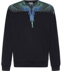 marcelo burlon wings cotton sweatshirt