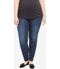motherhood maternity plus size dark wash skinny jeans