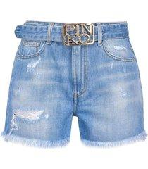 pinko korte spijkerbroek