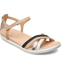simpil sandal shoes summer shoes flat sandals brun ecco