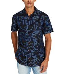 buffalo david bitton men's solas printed woven shirt