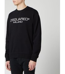 dsquared2 men's milan logo sweatshirt - black - xxl