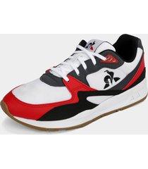 tenis lifestyle blanco-rojo-gris-negro le coq sportif