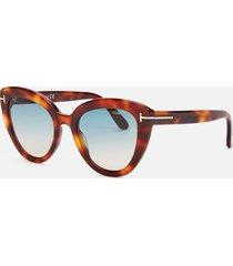 tom ford women's izzi cat frame sunglasses - blonde havana