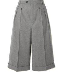wool-twill shorts
